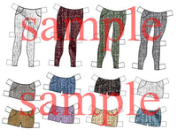 For Liviana W. Paper Doll. Jean pant and shorts with shirts and purses set. pdf. instant download