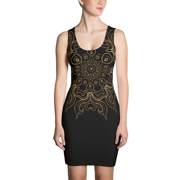 Black & Gold Design Dress