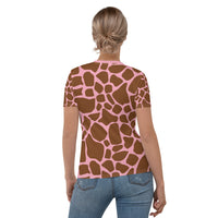 Giraffe with Pink Print Women's T-shirt