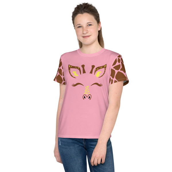 Giraffe Style Allover Print Youth T-Shirt