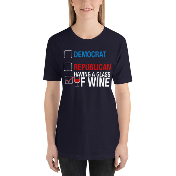 Having a Glass of Wine Short-Sleeve Unisex T-Shirt