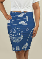 Pencil Skirt with Rockets