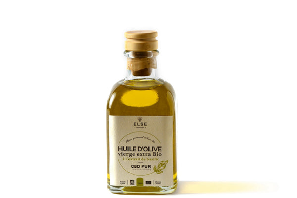 Organic Extra Virgin Olive Oil with CBD - Infused with Basil - 100ml