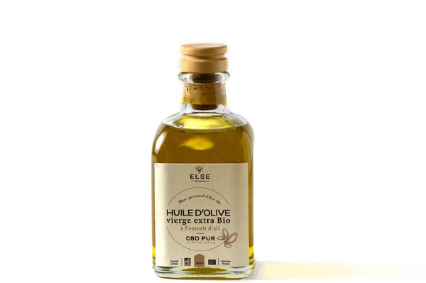 Organic Extra Virgin Olive Oil with CBD - Infused with Garlic - 100ml
