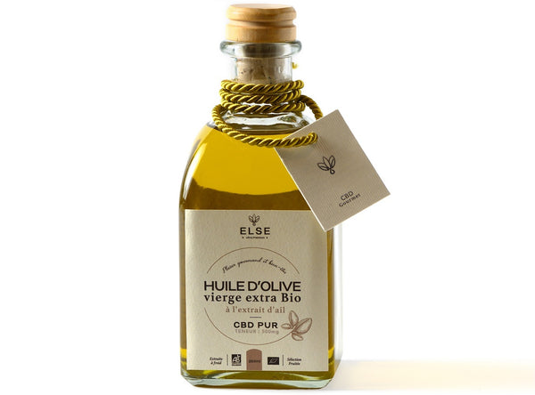 Organic Extra Virgin Olive Oil with CBD - Infused with Garlic
