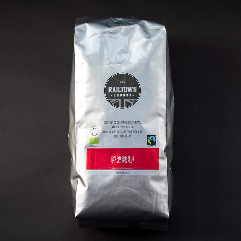 Peru Espresso Coffee from Railtown Coffee
