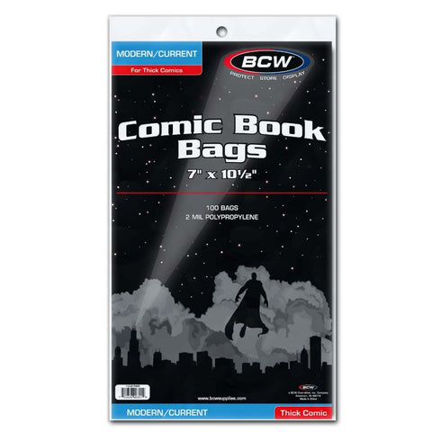 BCW CURRENT SIZE COMIC BOOK BAGS - THICK