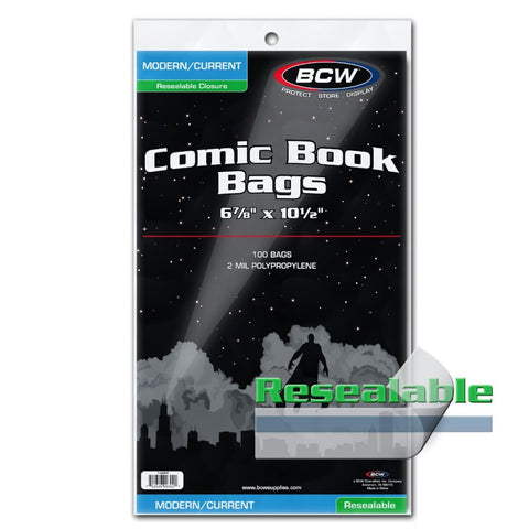 BCW CURRENT/MODERN RESEALABLE COMIC BOOK BAGS