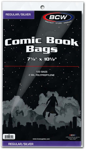 BCW REGULAR/SILVER AGE COMIC BAGS