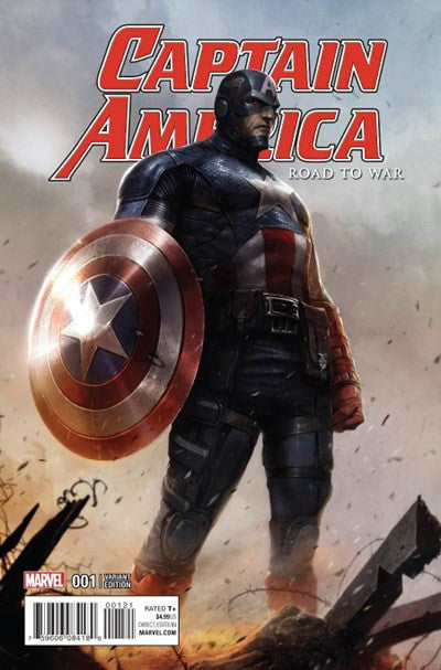CAPTAIN AMERICA: ROAD TO WAR #1 MATTINA VARIANT