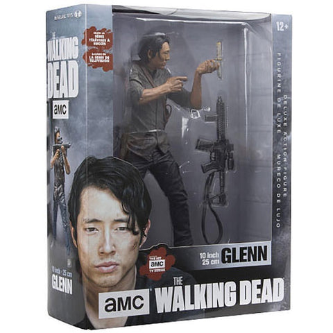 "WALKING DEAD GLENN WITH ASSAULT RIFLE 10"" DELUXE ACTION FIGURE"