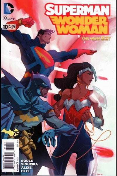 Superman/Wonder Woman #10 Batman 75th Anniversary Variant