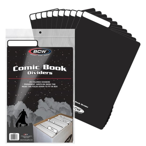 BCW COMIC BOOK  DIVIDERS - BLACK