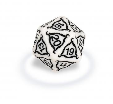 ULTRA PRO TITAN 20-SIDED JUMBO DICE 40MM IVORY