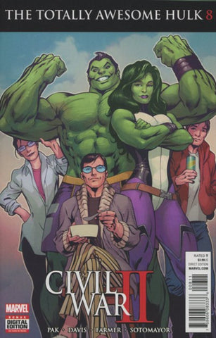CIVIL WAR II: THE TOTALLY AWESOME HULK #8 (2016)