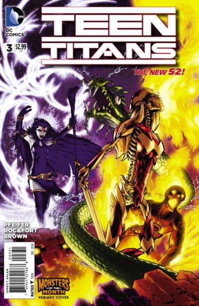 TEEN TITANS #3 MONSTER OF THE MONTH VARIANT