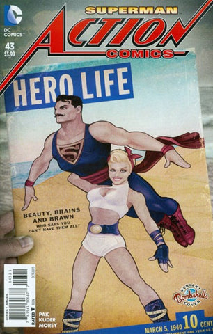 ACTION COMICS #43 BOMBSHELL VARIANT