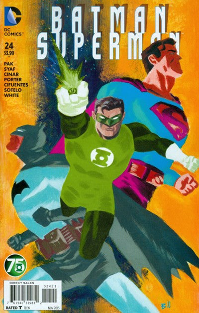 BATMAN/SUPERMAN #24 GREEN LANTERN 75TH VARIANT