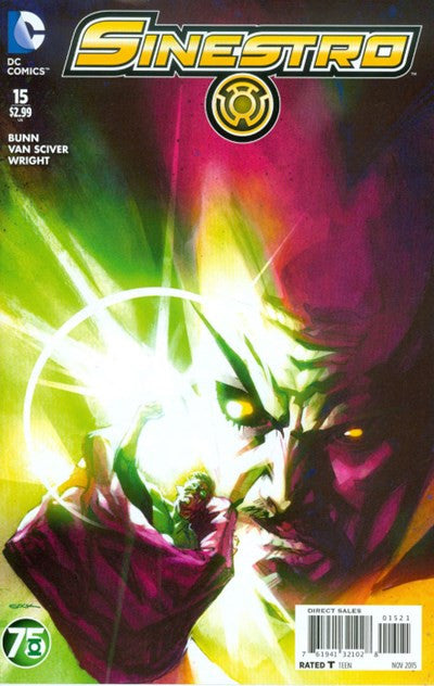 SINESTRO #15 GREEN LANTERN 75TH VARIANT