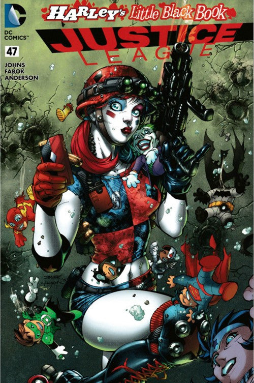 JUSTICE LEAGUE #47 HARLEY'S LITTLE BLACK BOOK COLOUR VARIANT