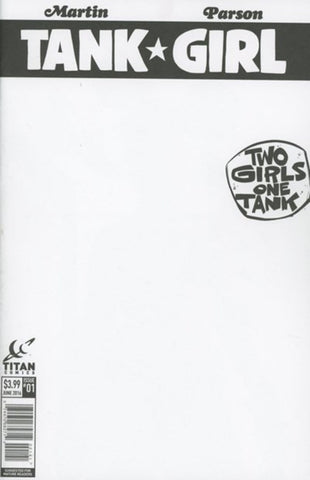 TANK GIRL: TWO GIRLS, ONE TANK #1 BLANK VARIANT