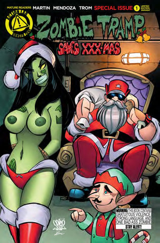 ZOMBIE TRAMP SAVES XXX-MAS TROM VARIANT  - MATURE READERS