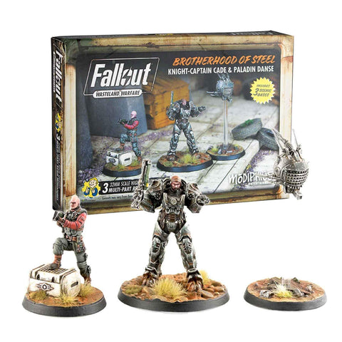 FALLOUT: WASTELAND WARFARE - BOS KNIGHT-CAPTAIN CADE & PALADIN DANSE