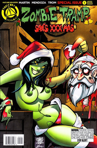 ZOMBIE TRAMP SAVES XXX-MAS RISQUE VARIANT A