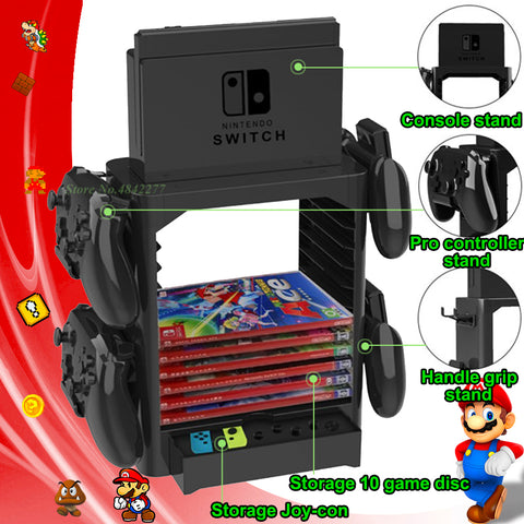10 Game Switch Storage Stand