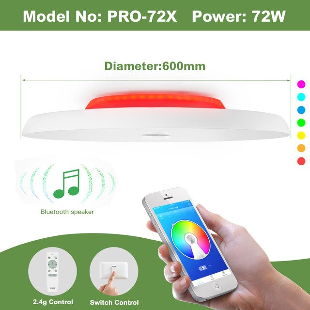 LED ceiling Light & Bluetooth Music Player