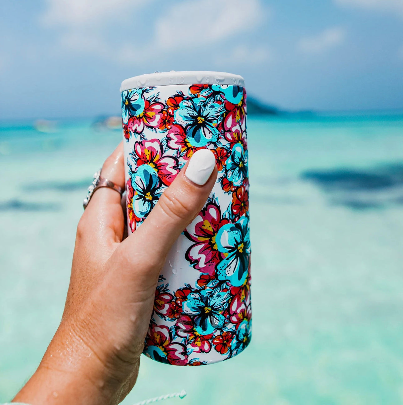 Slim Can Cooler Hawaiian Hibiscus