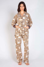 Load image into Gallery viewer, PJ Salvage Coffee Flannel PJ Set