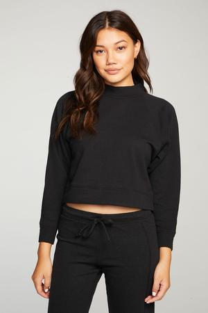 CASHMERE FLEECE LONG SLEEVE BATWING PULLOVER