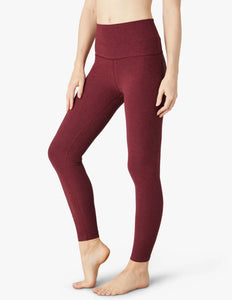 Beyond Yoga Spacedye Caught In The Midi High Waisted Legging~ Deep Merlot