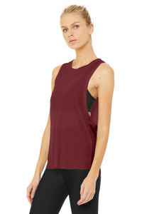 Alo Yoga Heat Wave Tank ~ Black Cherry