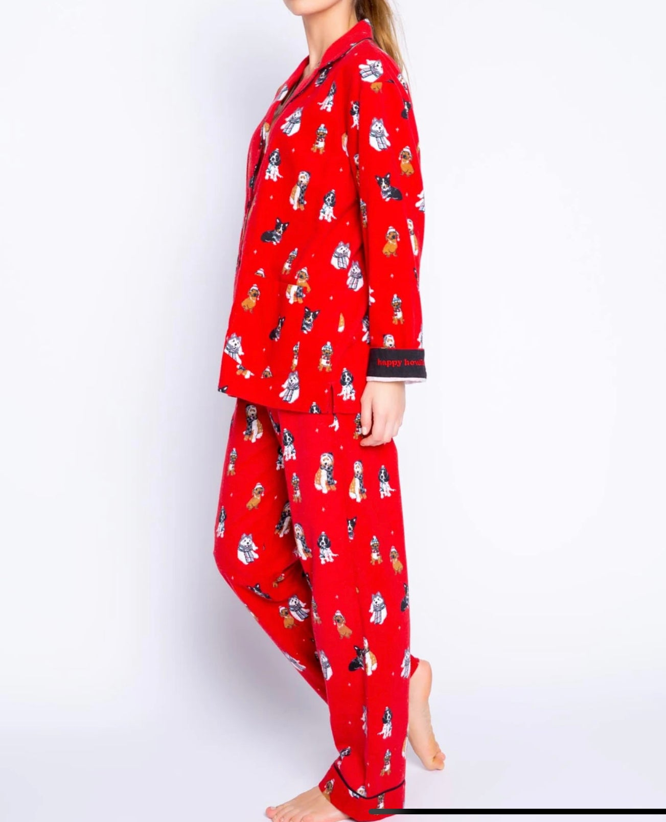 PJ Salvage Red Flannel Howlidays Dogs