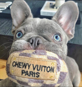 Haute Diggity Checker Chewy Vuitton Plush Ball Toy