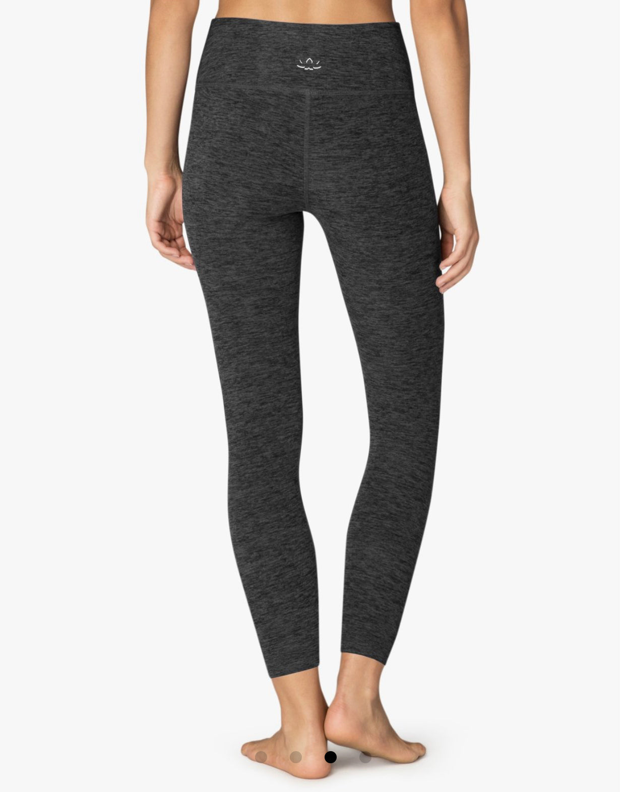Beyond Yoga Spacedye Caught In The Midi High Waisted Legging in Black Charcoal