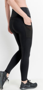 Highwaist Essential Leggings with Mesh Pockets