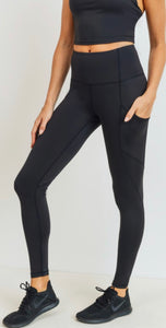 Black High Waist Pocket Leggings