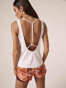 Lanston Twist Back Tank ~ White