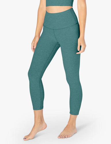 Spacedye Walk and Talk High Waisted Capri Legging ~ Meadow Sage-Frosty Green