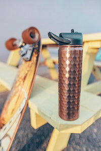 27 oz Hammered Copper SIC Stainless Steel Water Bottle