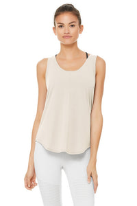 Alo Yoga New Moon Tank ~ Bone