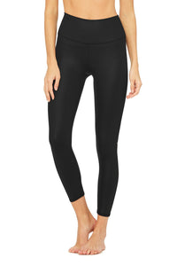 ALO YOGA  7/8 High-Waist Airbrush Legging~ Black