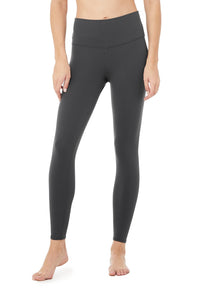 ALO YOGA  7/8 High-Waist Airbrush Legging~ Anthracite