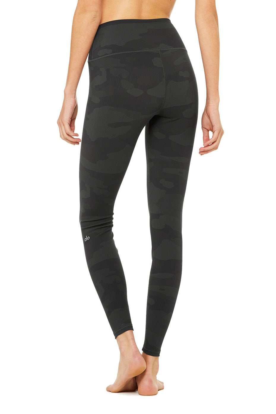 Alo Yoga High Waist Camo Viper Leggings ~ Black Camouflage
