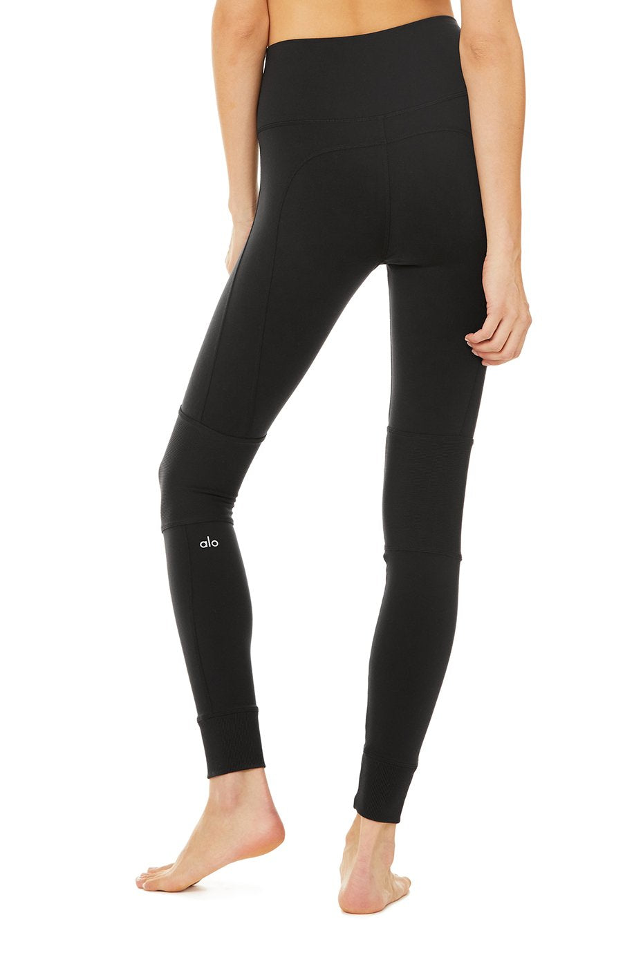 Alo Yoga High Waist Avenue Legging ~ Black