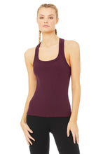 Load image into Gallery viewer, Alo Yoga Rib Support Tank - Black Plum