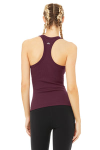 Alo Yoga Rib Support Tank - Black Plum